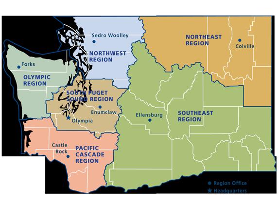 DNR Regions And Districts WA DNR - Us northeast region map