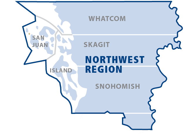 click to enlarge NW Region Map with Counties