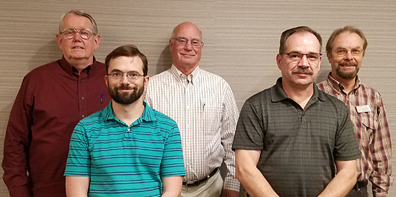 Board members, from left, Tim Kent, Paul Galli, Bruce Dodds, Gary Letzring, and Martin Paquette.