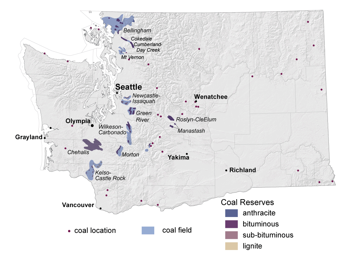 Coal Metallic And Mineral Resources Wa Dnr - Us-coal-reserves-map