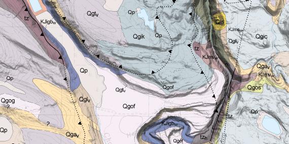 Surface Geology WA DNR - West coast us rock age map geology