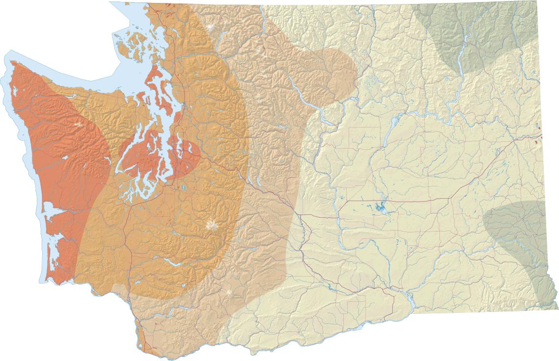 Earthquakes And Faults WA DNR - Washington dc earthquake map