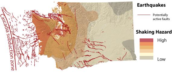 Earthquakes and Faults   WA - DNR