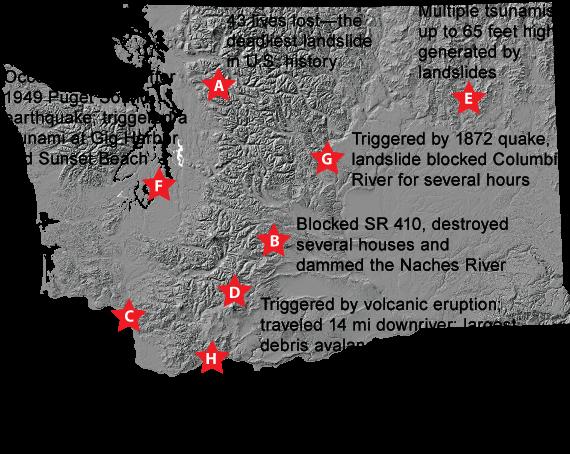 Some Historic Landslides In Washington State