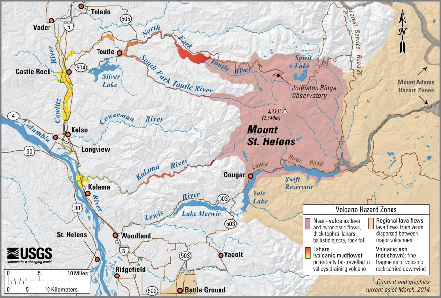 volcanic hazards lahars Volcanic hazard areas are those areas that, in the recent geologic past, have  been inundated by a case i, case ii, or case iii lahars or other types of debris  flow,.