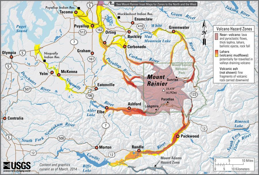 Volcanoes And Lahars Wa Dnr - Active-volcanoes-in-the-us-map