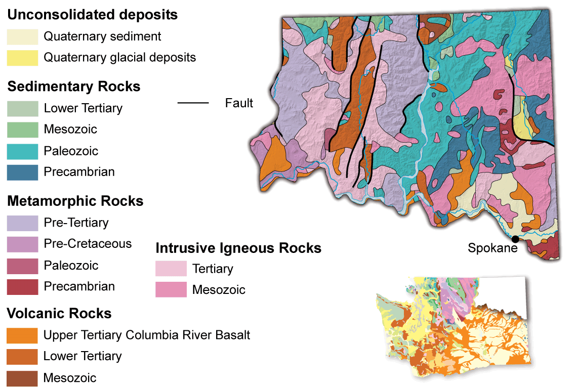 Geologic map of the Okanogan Highlands