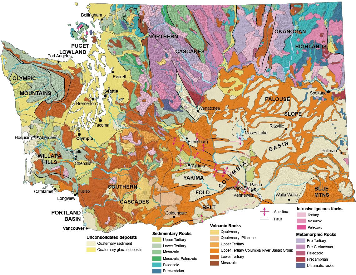 Geologic Provinces of Washington | WA - DNR on