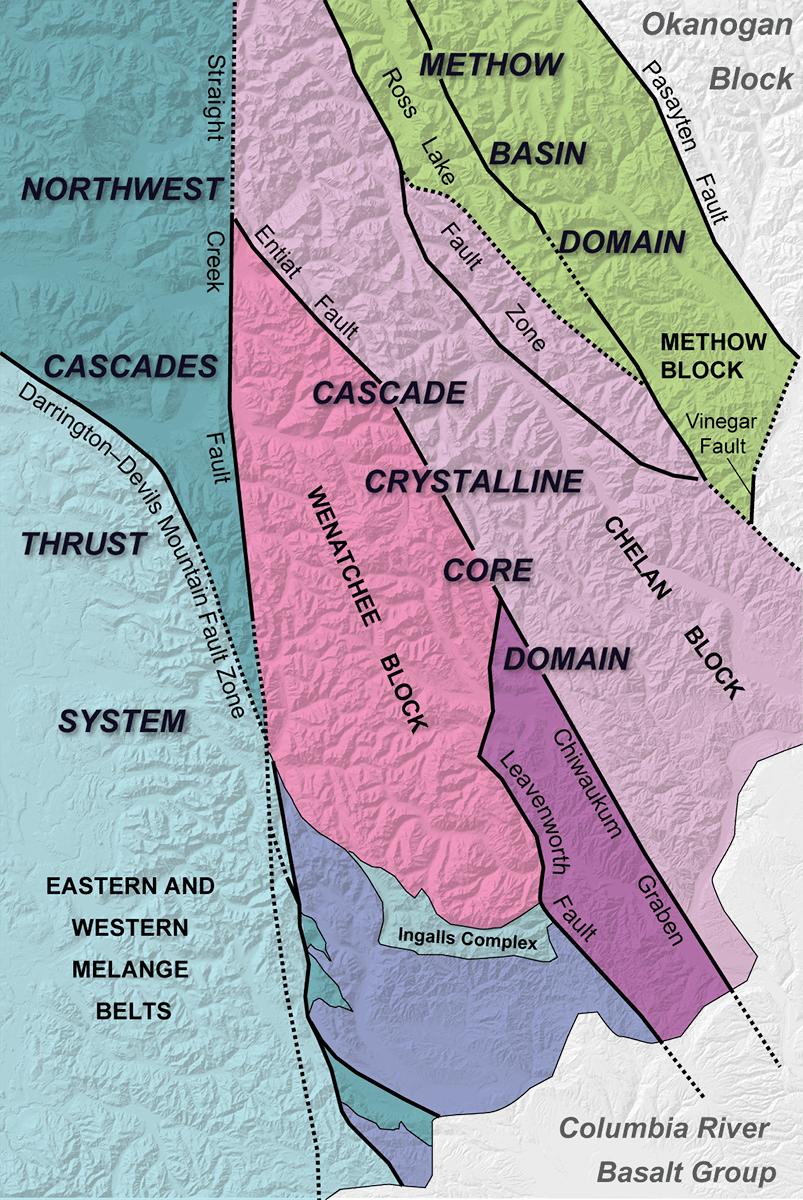 North Cascades WA DNR - Cascade range on us map