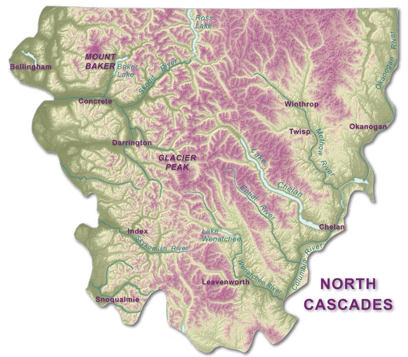 Northern California Map Of Mountain Ranges.North Cascades Wa Dnr