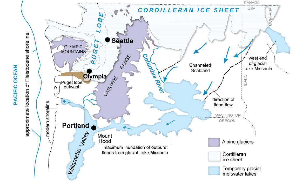 Palouse Falls Washington Map.Columbia Basin Wa Dnr