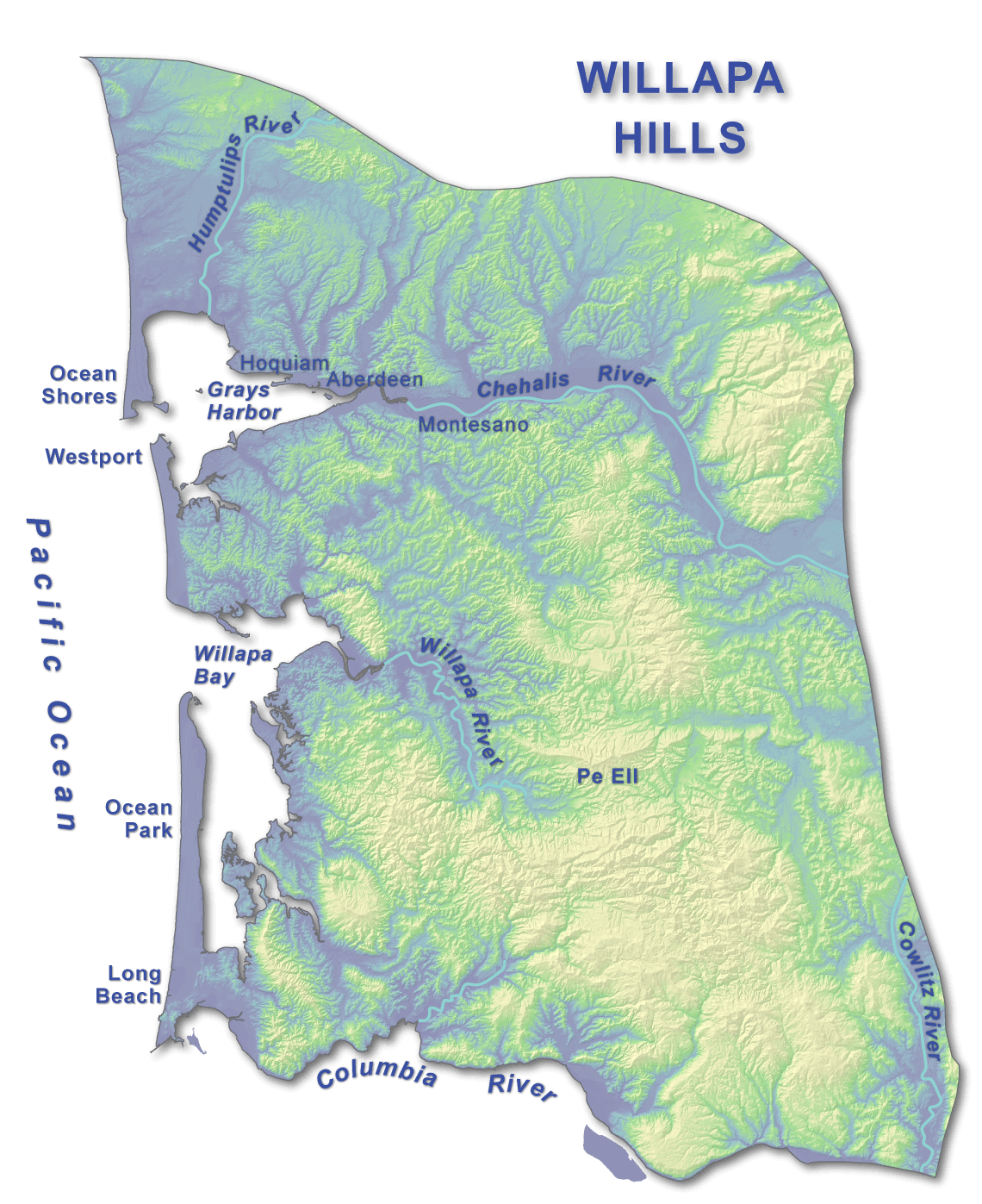 Willapa Hills WA DNR - Map of washington coast