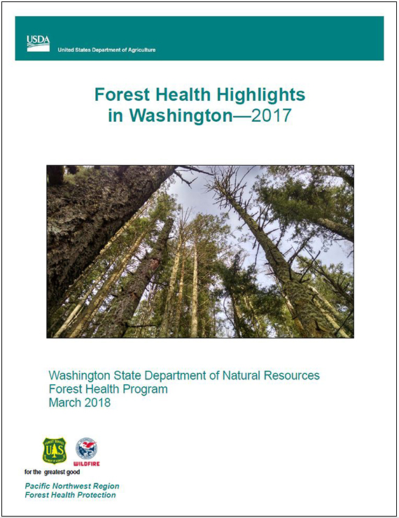 Cover of 2017 Forest Health Highlights report