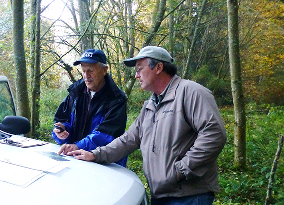 Landowner receives help from a forester
