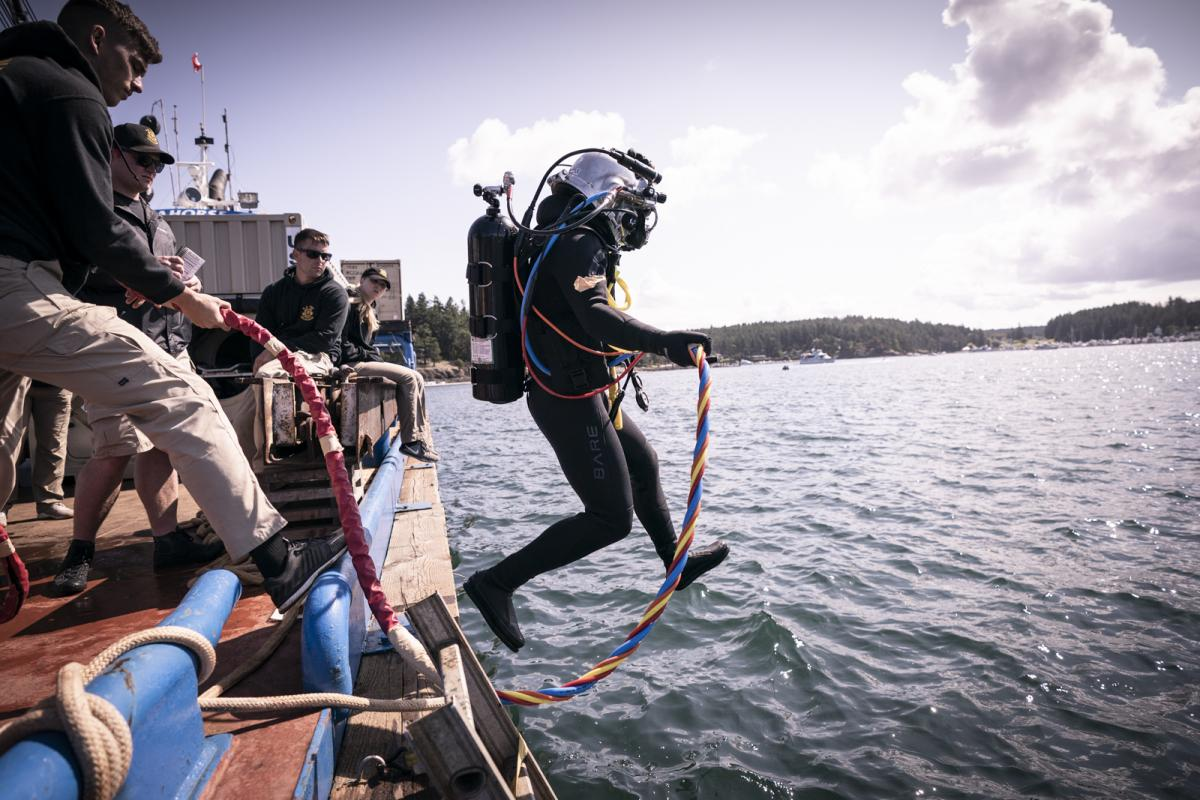 Diver of Army's 569th Dive Detachment