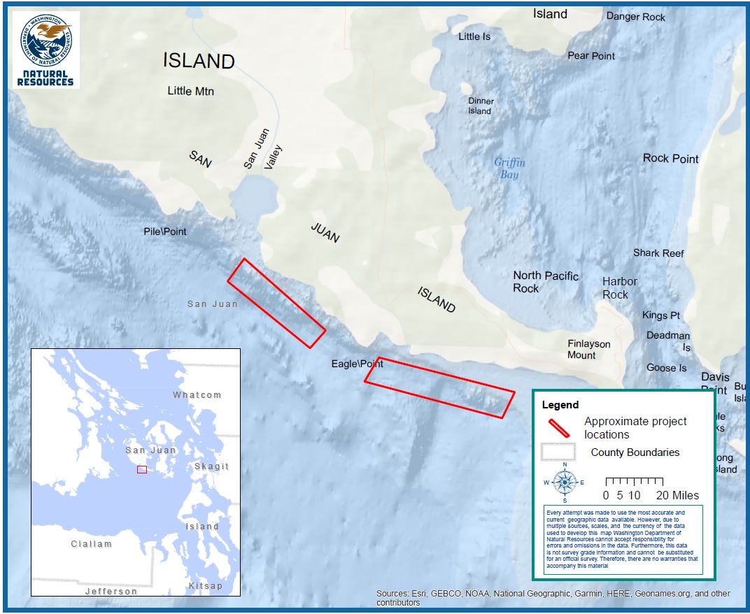 Map of deep water net removal