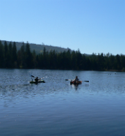 Kayakers at Lake Kapowsin