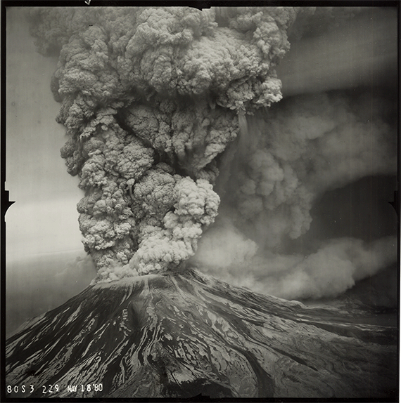 An image of the May 18, 1980 eruption of Mount Saint Helens.
