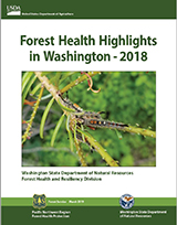 Cover of the 2018 forest health highlights