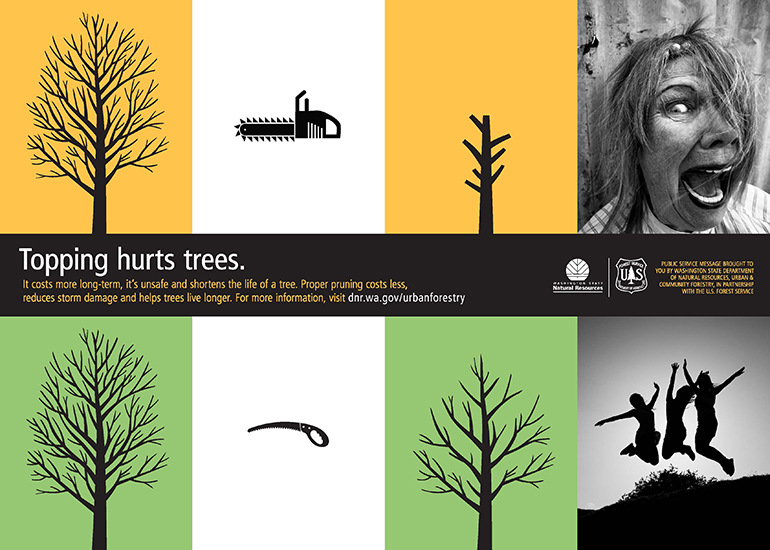 Topping hurts trees poster