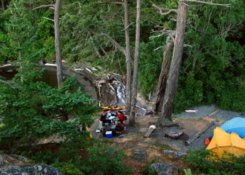 Camping at Lummi Island - Photo by Jason Goldstein