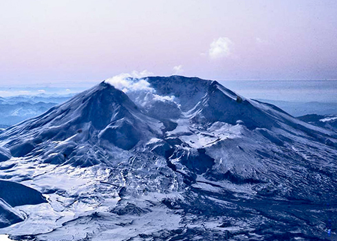 Aerial photo of Mount Saint Helens